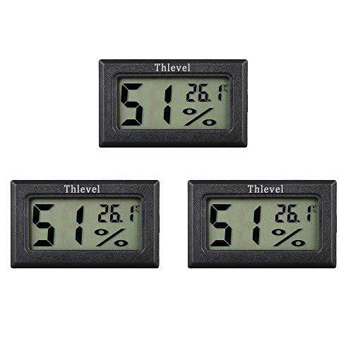 Thlevel Mini Digital LCD Thermomètre Hygromètre Température Humidité -50~70 ℃ 10% ~ 99% RH (3 PCS - A)