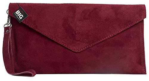 Big Handbag Shop, Borsetta da polso donna One Rosso (rosso scuro)
