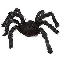 Accesorios creativos de Halloween Araña Falsa simulada para Bares de Casas embrujadas Suministros Decorativos Arañas de Peluche de Miedo Juguetes difíciles (Color: Negro) (tamaño: 30 cm)