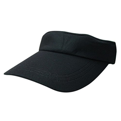 UFACE Visor Tennis Cap Sport topless Zylinder Solide Baumwolle Baseball Cap Snapback Caps Hip Hop Hüte (Schwarz) (Harley-damen-hut)