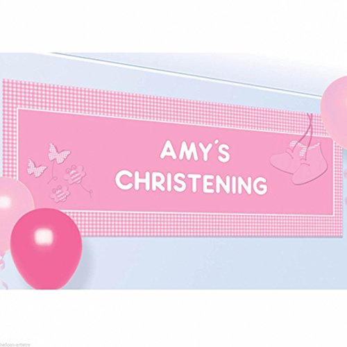 amscan 1,2 x 45 cm Taufe rosa Beute Personalisierte Banner