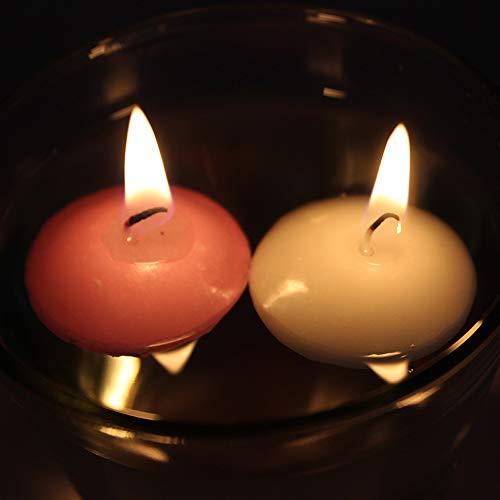 T-shin Schwimmkerzen, Klassische Duft-Teelicht-Form-Kerzen mit 100 Seiden-Rosenblüten, Mini-Kerzenscheiben für Hochzeiten, Jubiläen, Geburtstage, Heimdekoration, Spa, Entspannung, 10 Stück Rose