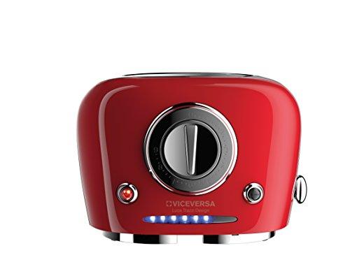 Viceversa 2135035Tix Pop-up-Toaster, Rot
