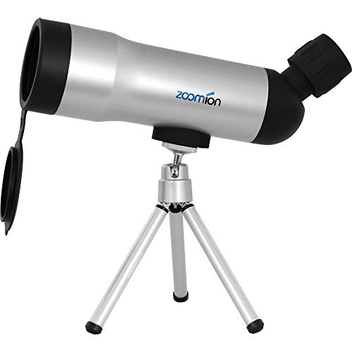 Zoomion Fox Spektiv 20x50mm für Vogelbeobachtung und Sportschützen - Kompakt und spritzwasserfest mit Stativ, mehrfache Linsenvergütung, Halterung