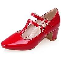 GGX/ Zapatos de mujer-Tacón Robusto-Tacones / Puntiagudos-Tacones-Oficina y Trabajo / Casual-Cuero Patentado-Negro / Rojo / Blanco , white-us10.5 / eu42 / uk8.5 / cn43 , white-us10.5 / eu42 / uk8.5 /