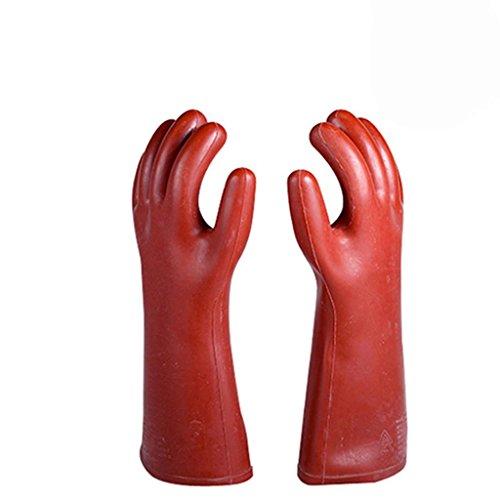 FGDJTYYJ 10KV Isolierte Handschuhe, Gummi Anti-Arbeits-Versicherungs-Handschuhe