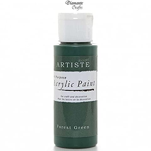 Docrafts Artiste Arcylic Paint All Purpose - 59ml / 2oz - Choose from 60 Colours (Forest Green)