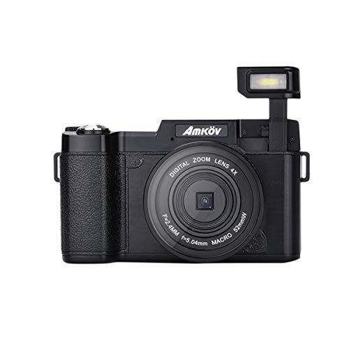 Preisvergleich Produktbild LEDMOMO Amkov R2 Minikamera 24MP 1080P HD Video 180 Grad drehbarer 3-Zoll-TFT-Bildschirm 4-Fach Digitalzoom Portable Cam Camcorder