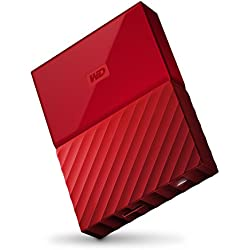 WD My Passport 2TB Portable External Hard Drive (Red)