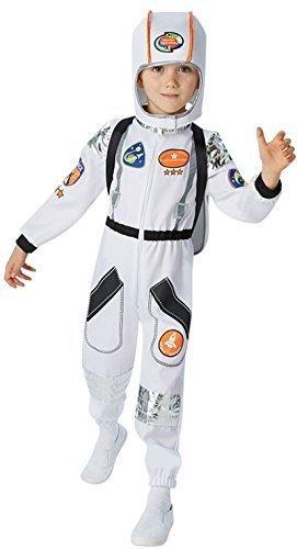 Jungen weiß Astronaut Astronaut Uniform Buzz Büchertag Fach Kostüm Kleid Outfit 5-10 jahre - Weiß, (Astronaut Rucksack Kostüm)