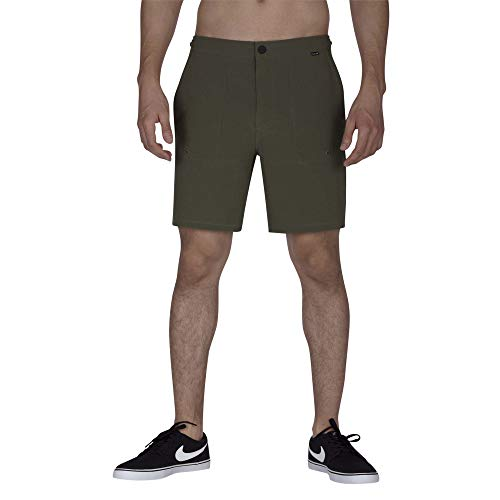 Hurley Herren M Phantom Coastline Short 18' medium Olive, 34 -