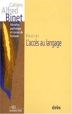 l'accès aux langage