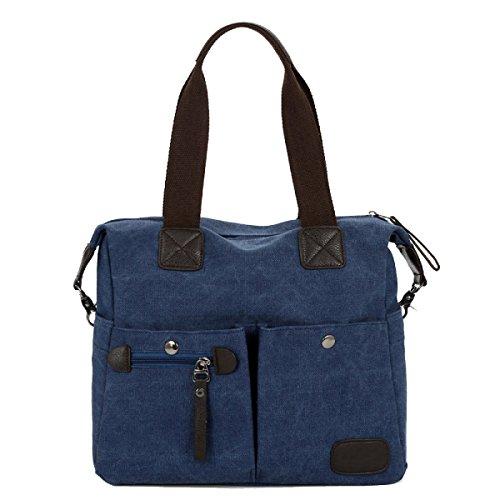 Yy.f Segeltuchballen Schulterbeutel Beiläufige Reisetasche Des Kuriers Tragbare Retro- Tasche Des Colleges Tägliche Tasche Arbeit Schule Täglicher Gebrauch. Mehrfarbig Khaki