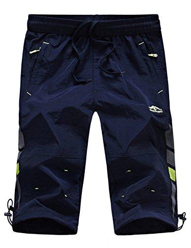 Echinodon Junge 3/4 Hose Dünn/Leicht/Atmmungsaktiv/Schnelltrockend Shorts Sport und Freizeit Sommer Kurze Hose - Verstellbare Kurze