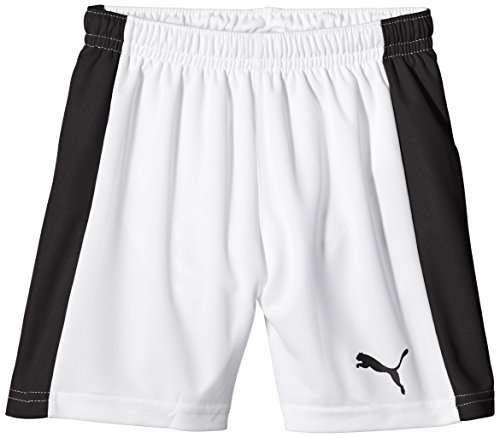PUMA Kinder Hose Pitch Shorts with Innerbrief, white-black, 140, 702075 04