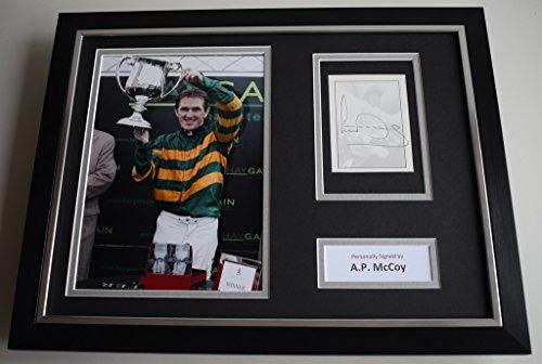 Sportagraphs Tony AP McCoy SIGNED FRAMED Photo Autograph 16x12 display Horse Racing AFTAL COA PERFECT GIFT