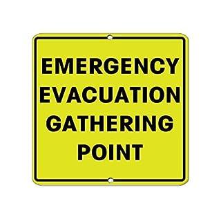Modtory Schild aus Aluminium für Notfall Evakuation Gathering Point Security