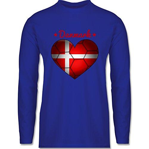 Shirtracer Handball - Handballherz Dänemark - Herren Langarmshirt Royalblau