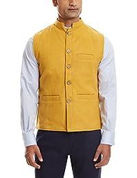 Sobre Estilo Men's Banded Collar Wool Jacket