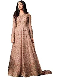 Mahantam Designer Sunflower Light Peach Color Anarkali Salwar Suit With Codding Embroidery And Stone Work Anarkali...