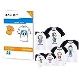 Lot De 15 Feuilles De Papier De Transfert Pour T-shirts À Jet D'encre 21 X 29.7 cm