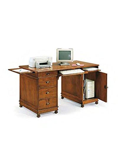 Bureau, bureau, porte PC 4 tiroirs 1 porte bois massif art pauvre