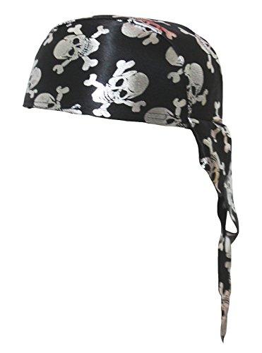Petitebelle Pirate Costume Silver Skeleton Hat Unisex Clothing (One Size)