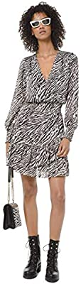 Michael Kors Vestido Manga Larga Animal Print MF98XEYCFH (S)