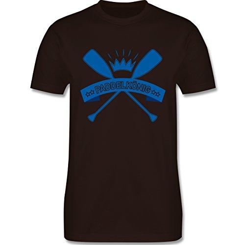 Wassersport - Paddelkönig - Herren Premium T-Shirt Braun