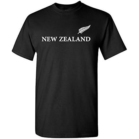 Nueva Zelanda negro T-camiseta de manga corta