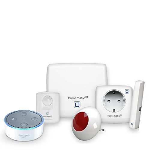 Homematic IP Starter Set Sicherheit plus + Amazon Echo Dot (2. Generation), Weiß