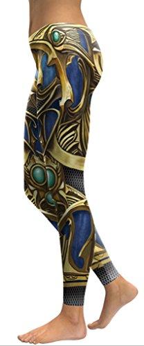 Belsen - Legging - Femme multicolore Leggings Taille S Gold armor