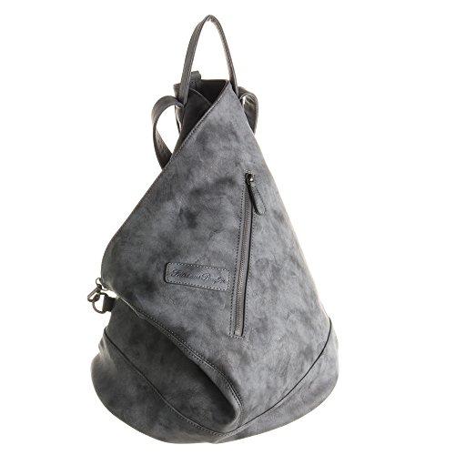 Fritzi aus Preußen Damen Tomke Rucksackhandtasche, Schwarz (Black), 32x38x13 cm