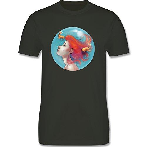 Statement Shirts - Unterwasser - Meerjungfrau - Herren Premium T-Shirt Army Grün
