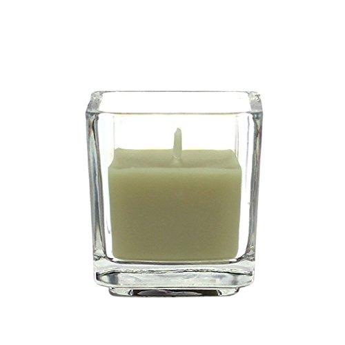 Zest Kerze cvz-039_ 8Werkzeugkoffen Ratschenkasten quadratisch Glas Votivkerze, Salbei Grün