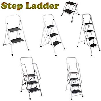 Foldable Non Slip 3 Step Steel Ladder Tread Stepladder