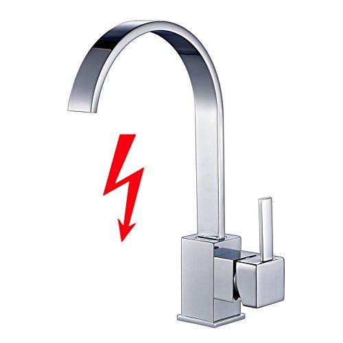 Auralum® Niederdruck Wasserhahn Spültischarmatur Einhandmischer Mischbattere KücheArmatur