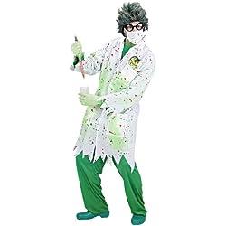 Widman - Disfraz de científico loco para hombre, talla L (S/98933)