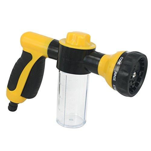 Kit Dusche Pet (Andux Zone 8 in 1 Wasserförmig Garten-Schlauch-Düse Sprayer, Garten-Handbrause für Autowaschanlagen, Garten, Wasch Pet PMSQ-01 (gelb))