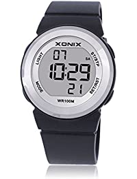 Reloj electrónico digital de múltiples funciones de los ni?os,Jalea 100 m led resina resistente al agua correa alarma cronómetro chicas o chicos lindos moda reloj de pulsera-H