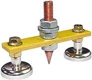 Hemobllo Magnetic Welding Ground Clamp - Welding Magnet Head Magnetic Welding Machine Ground Iron Artifact Loc