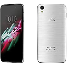 "Alcatel Idol3 - Smartphone de 4.7"" (Quad Core 1.2 GHz, memoria interna de 8 GB, 1.5 GB de RAM, cámara de 13 MP, Android) plateado"