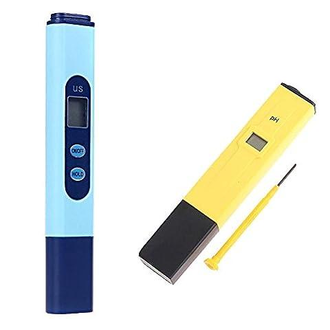 Amazingdeal365 Digital EC Conductivity Meter Tester Pen + PH Meter Hydroponics UK