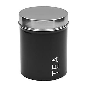 Boîte à thé en métal - noir