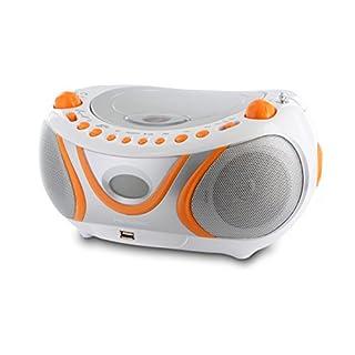 Metronic 477133 Radio CD MP3 Boombox Juicy Weiß/Orange