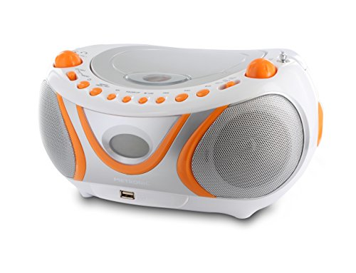 Metronic 477133 - Radio CD-mp3, CD-r, CD-RW, Radio Am-FM, función id3, Color Naranja.