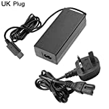 CAheadY 12V/3.25A AC Wall Charger Adapter Power Supply Cable for Nintendo GameCube NGC Black *UK Plug