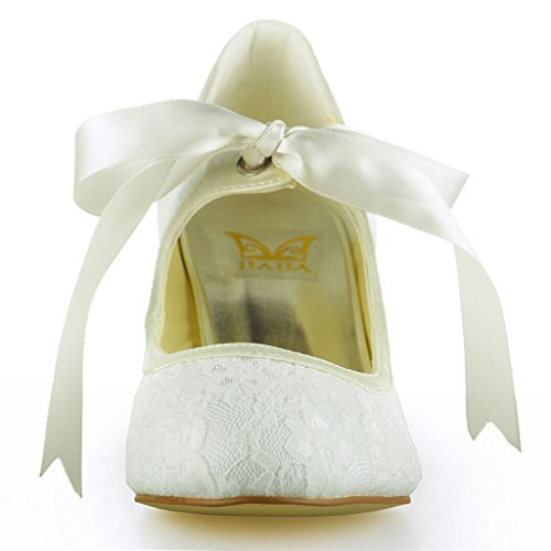 Jia Jia Wedding Hochzeitsschuhe Brautschuhe Damen Pumps Beige - 5