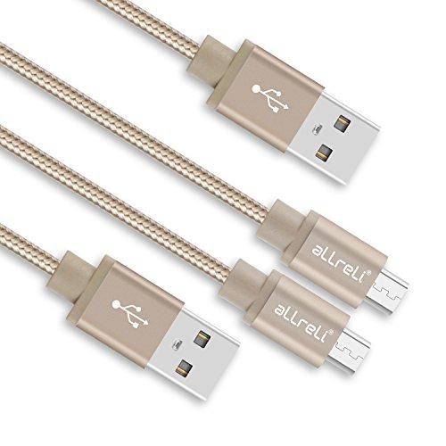 allreli-cavo-micro-usb-2-pack-nylon-intrecciato-10m-oro