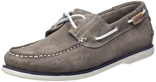 Wrangler Ocean Suede, Chaussures bateau homme Gris - Grau (143 ASH)